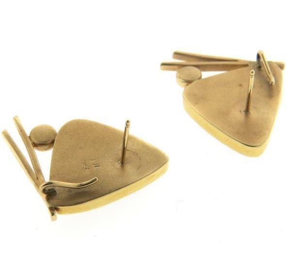 Peggie Robinson 14k Gold Gemstone Onyx Earrings - 4