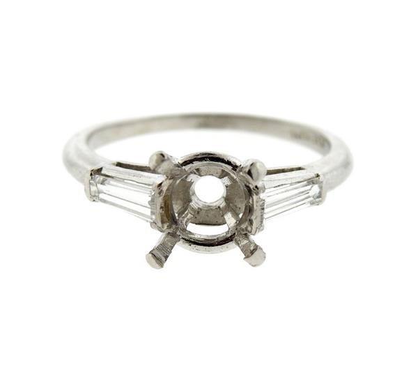 Platinum Diamond Engagement Ring Mounting Setting