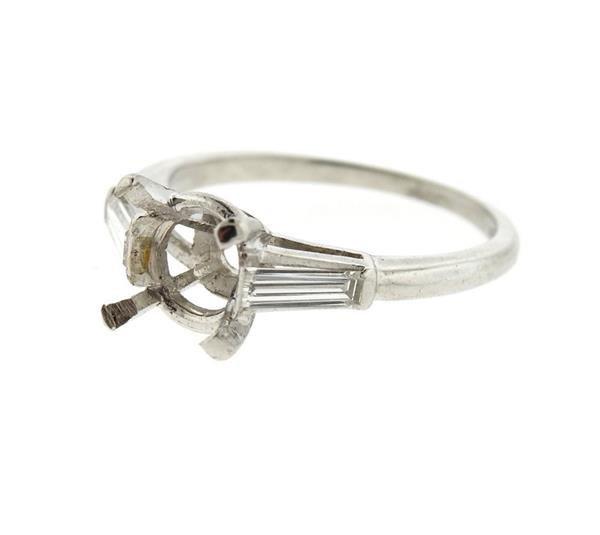 Platinum Diamond Engagement Ring Mounting Setting - 2