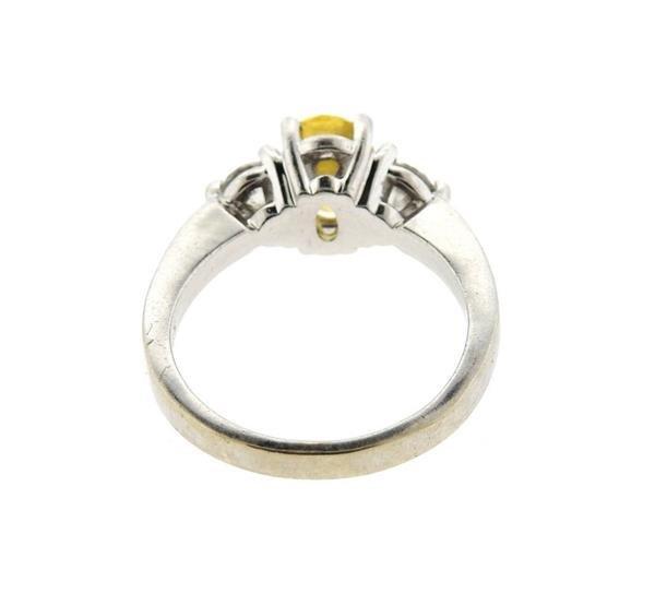 14k Gold Yellow Sapphire Diamond Ring - 2