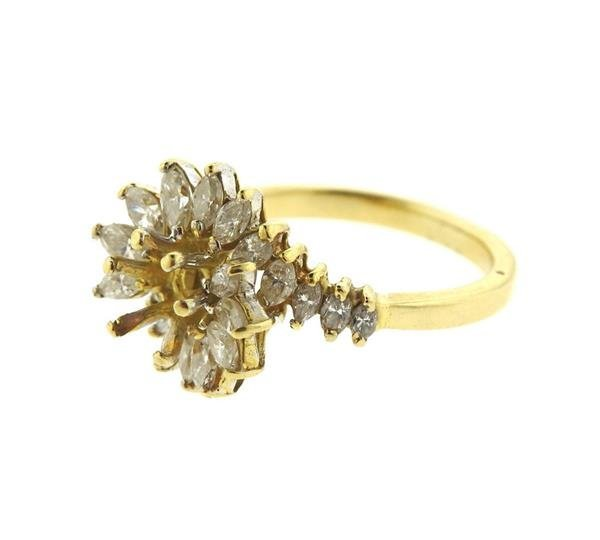 14k Gold Diamond Ring Setting Mounting - 2