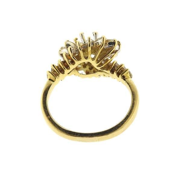 14k Gold Diamond Ring Setting Mounting - 3