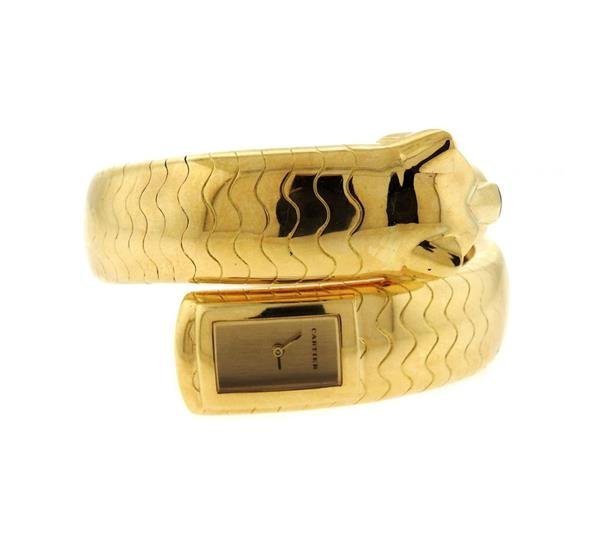 Cartier Panthere 18k Gold Wrap Bracelet Watch - 2