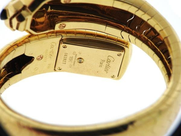 Cartier Panthere 18k Gold Wrap Bracelet Watch - 4