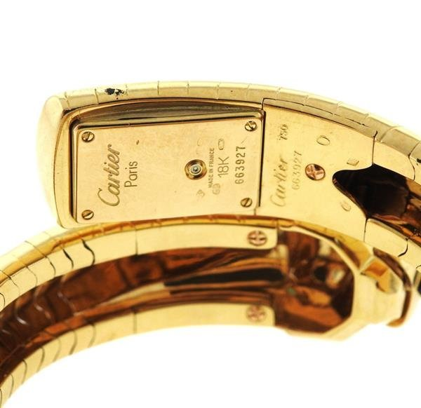 Cartier Panthere 18k Gold Wrap Bracelet Watch - 5