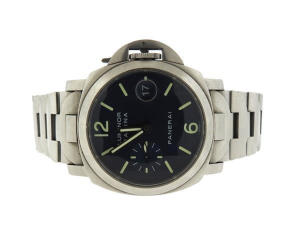 Panerai Luminor Marina Black Dial Steel Watch PAM120