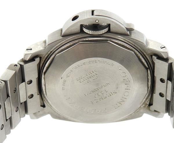 Panerai Luminor Marina Black Dial Steel Watch PAM120 - 3