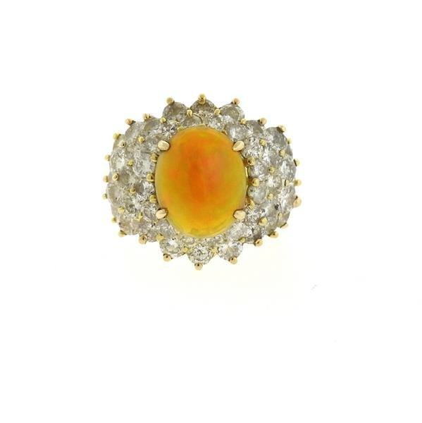 18k Gold 2.89ct Ethiopian Opal 6.25ctw Diamond Ring - 2