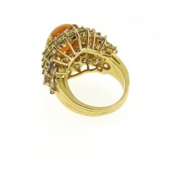 18k Gold 2.89ct Ethiopian Opal 6.25ctw Diamond Ring - 4