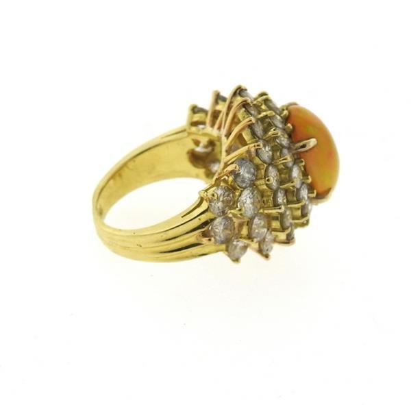 18k Gold 2.89ct Ethiopian Opal 6.25ctw Diamond Ring - 5