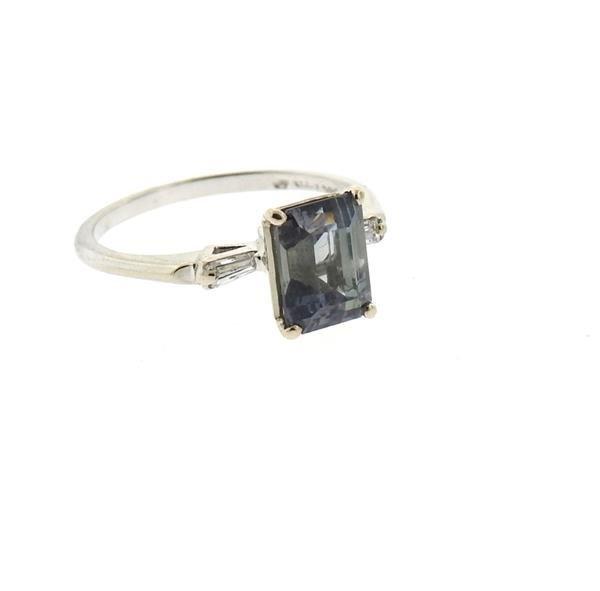 14k Gold 2.53ct Violet Sapphire Diamond Ring - 2