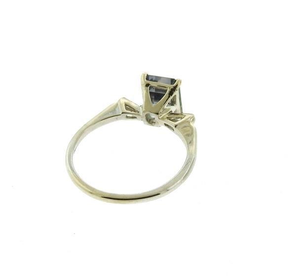 14k Gold 2.53ct Violet Sapphire Diamond Ring - 4