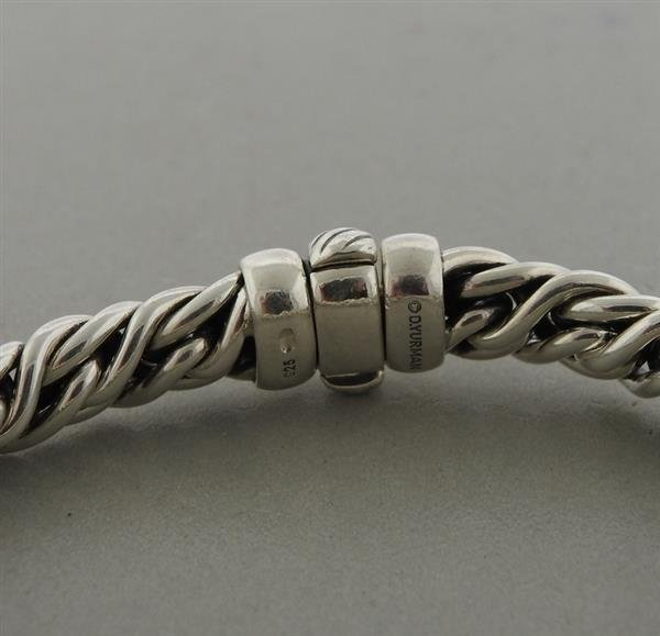 David Yurman Sterling Silver Diamond X Wheat Chain - 2