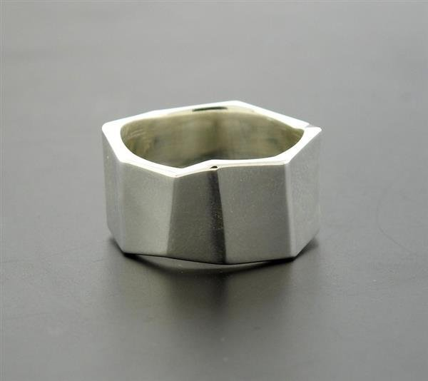 Tiffany & Co Gehry Sterling Geometric Band Ring