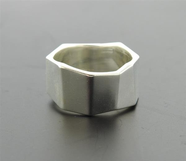 Tiffany & Co Gehry Sterling Geometric Band Ring - 2