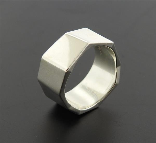 Tiffany & Co Gehry Sterling Geometric Band Ring - 4