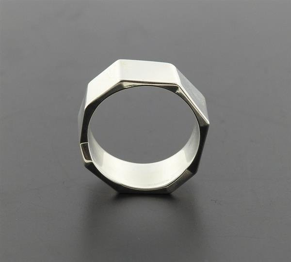 Tiffany & Co Gehry Sterling Geometric Band Ring - 5