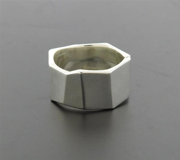 Tiffany & Co Gehry Sterling Geometric Band Ring - 6