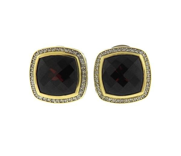 David Yurman Albion Sterling 18k Gold Garnet Diamond