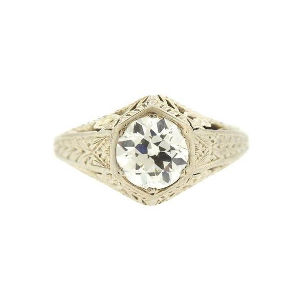 Art Deco 18K Gold Diamond Ring