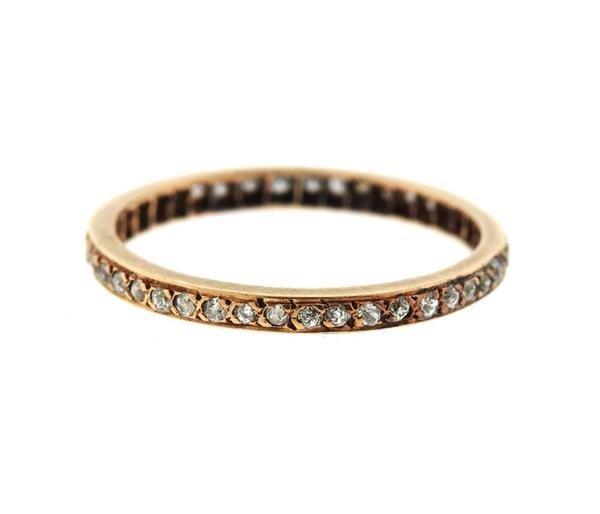 14k Gold Diamond Eternity Wedding Band Ring