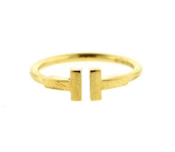 Tiffany & Co 18k Gold T Ring