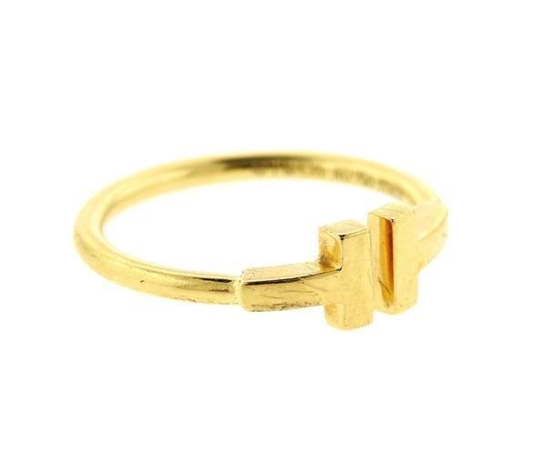 Tiffany & Co 18k Gold T Ring - 2