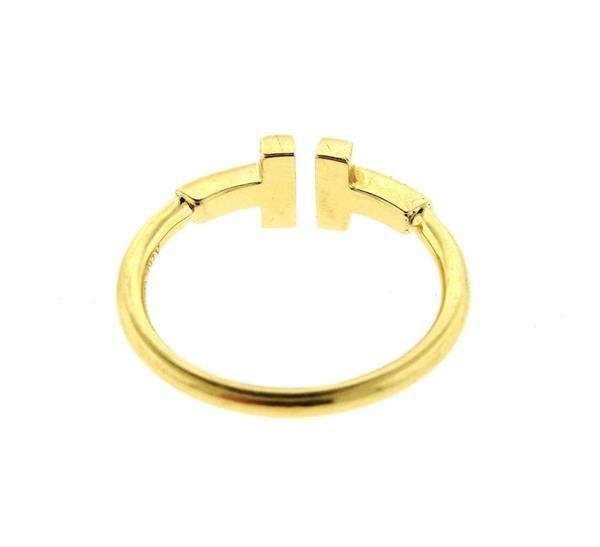 Tiffany & Co 18k Gold T Ring - 4