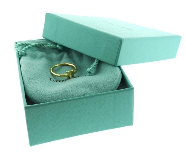 Tiffany & Co 18k Gold T Ring - 5