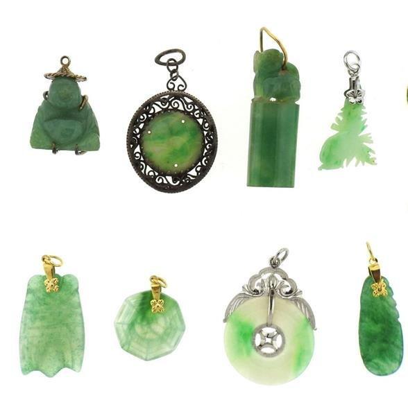 14k Gold Jade Jewelry Lot - 2