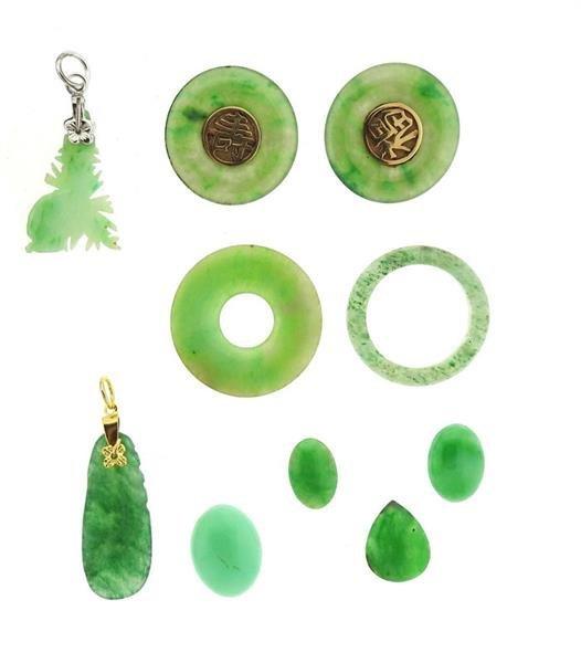 14k Gold Jade Jewelry Lot - 3