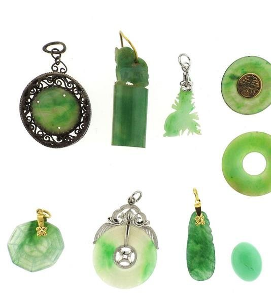 14k Gold Jade Jewelry Lot - 4