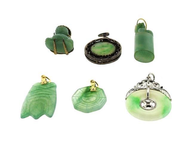 14k Gold Jade Jewelry Lot - 5