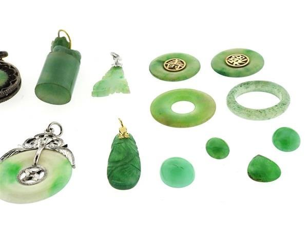 14k Gold Jade Jewelry Lot - 6