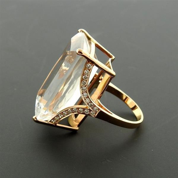Jack Vartanian 18K Gold Diamond Quartz Cocktail Ring - 3