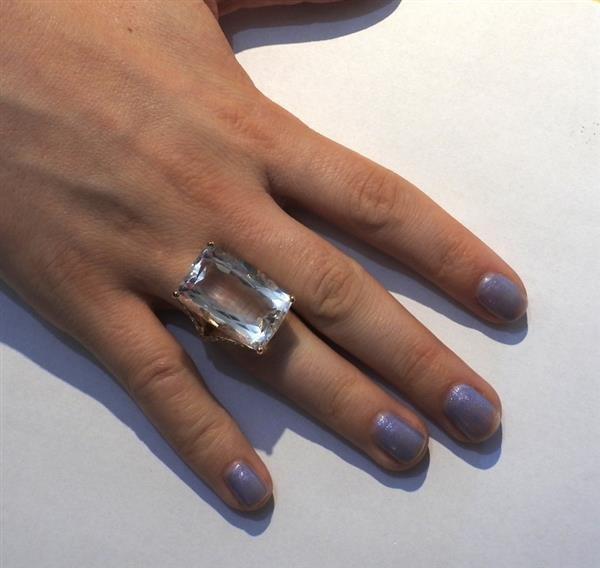 Jack Vartanian 18K Gold Diamond Quartz Cocktail Ring - 5