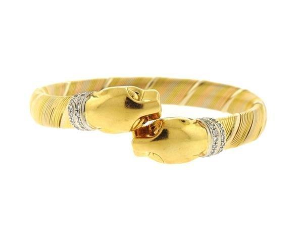 Cartier Panthere 18k Gold Diamond Bracelet