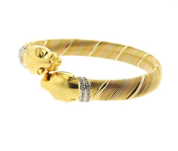 Cartier Panthere 18k Gold Diamond Bracelet - 2