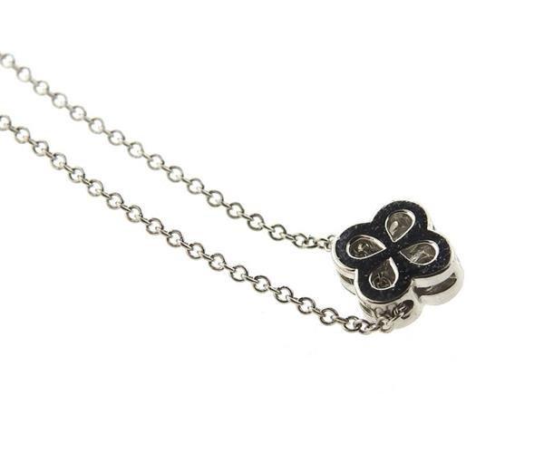 Tiffany & Co Platinum Diamond Flower Pendant - 4