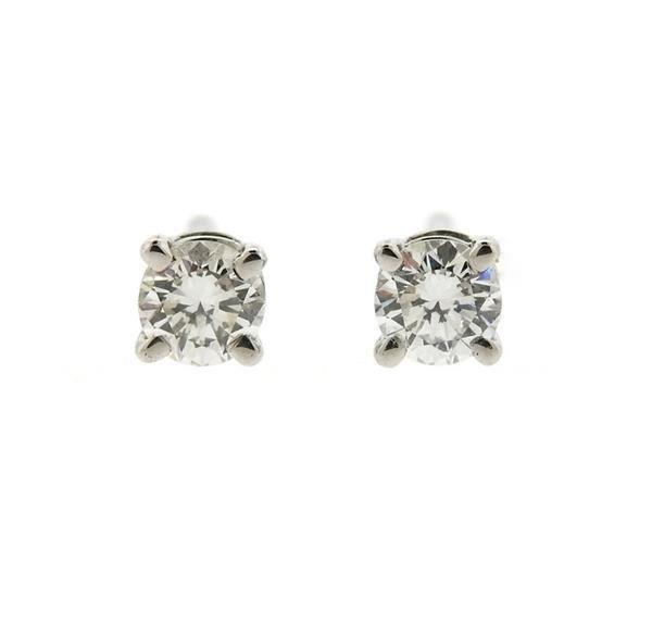 Tiffany & Co Platinum Diamond Stud Earrings
