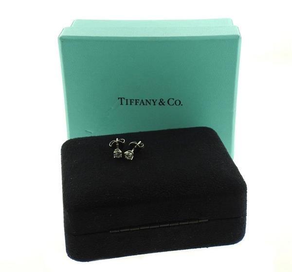 Tiffany & Co Platinum Diamond Stud Earrings - 3