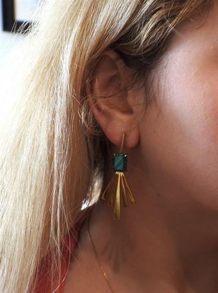 Jack Vartanian 18K Gold Malachite Earrings - 4