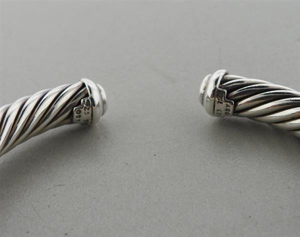 David Yurman Sterling 18k Gold Diamond Cable Bracelet - 2