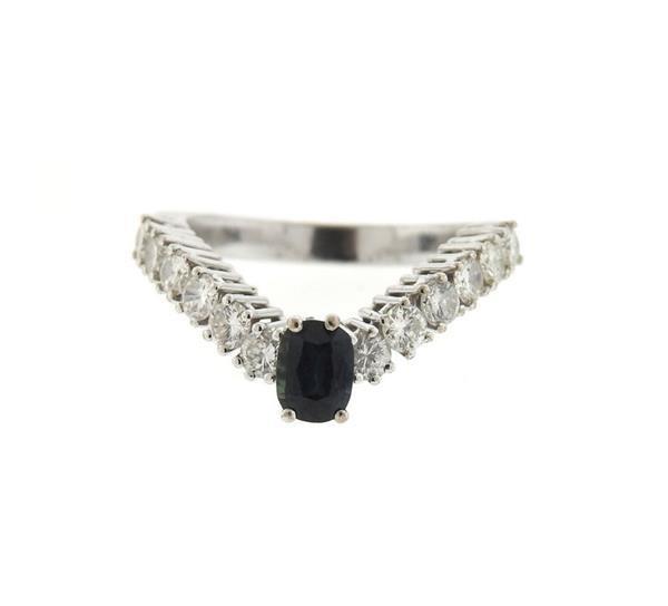 18k Gold Diamond Wavy Ring