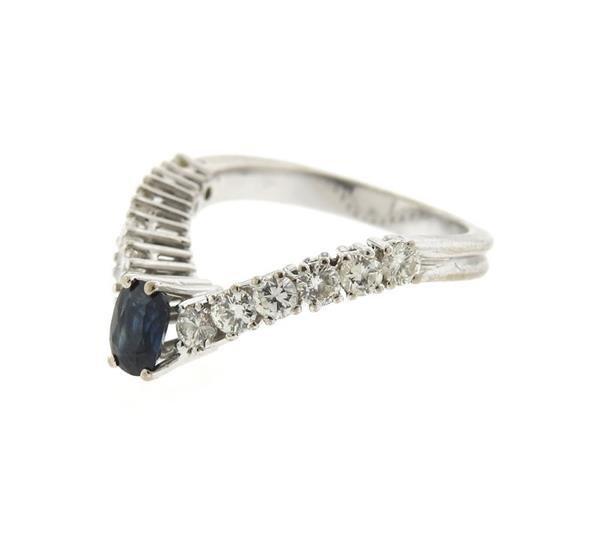 18k Gold Diamond Wavy Ring - 2