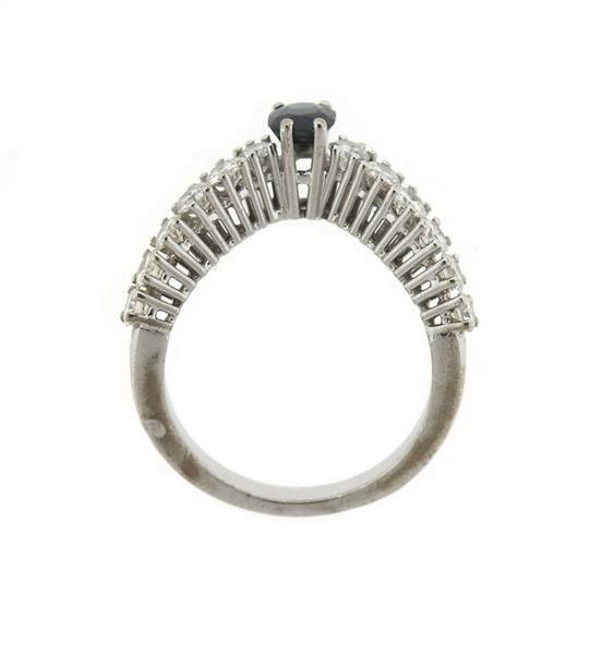 18k Gold Diamond Wavy Ring - 3