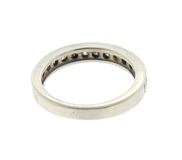 Platinum Diamond Half Band Wedding Ring - 3