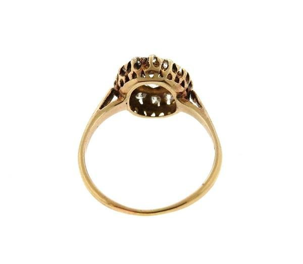 Antique 14k Gold Diamond Engagement Ring - 3