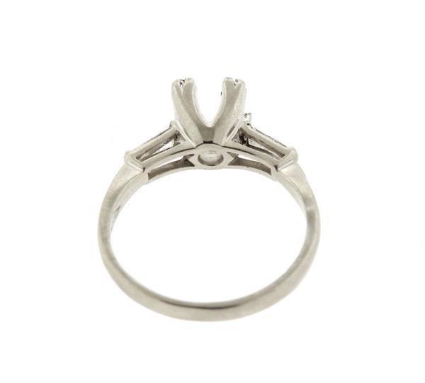 Platinum Diamond Engagement Ring Setting - 3