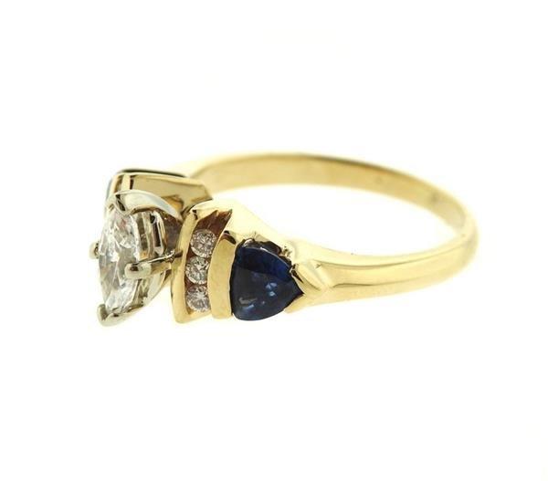 14k Gold Diamond Tanzanite Engagement Ring - 2